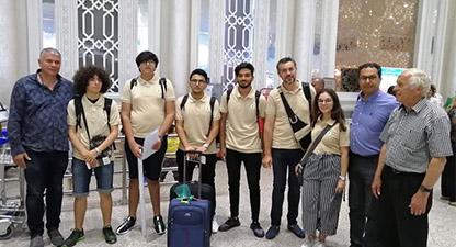 انطلاق رحلة الفريق التونسي من المعهد المثالية بنابل للمشاركة في مسابقة الروبوتيك في الولايات المتحدة