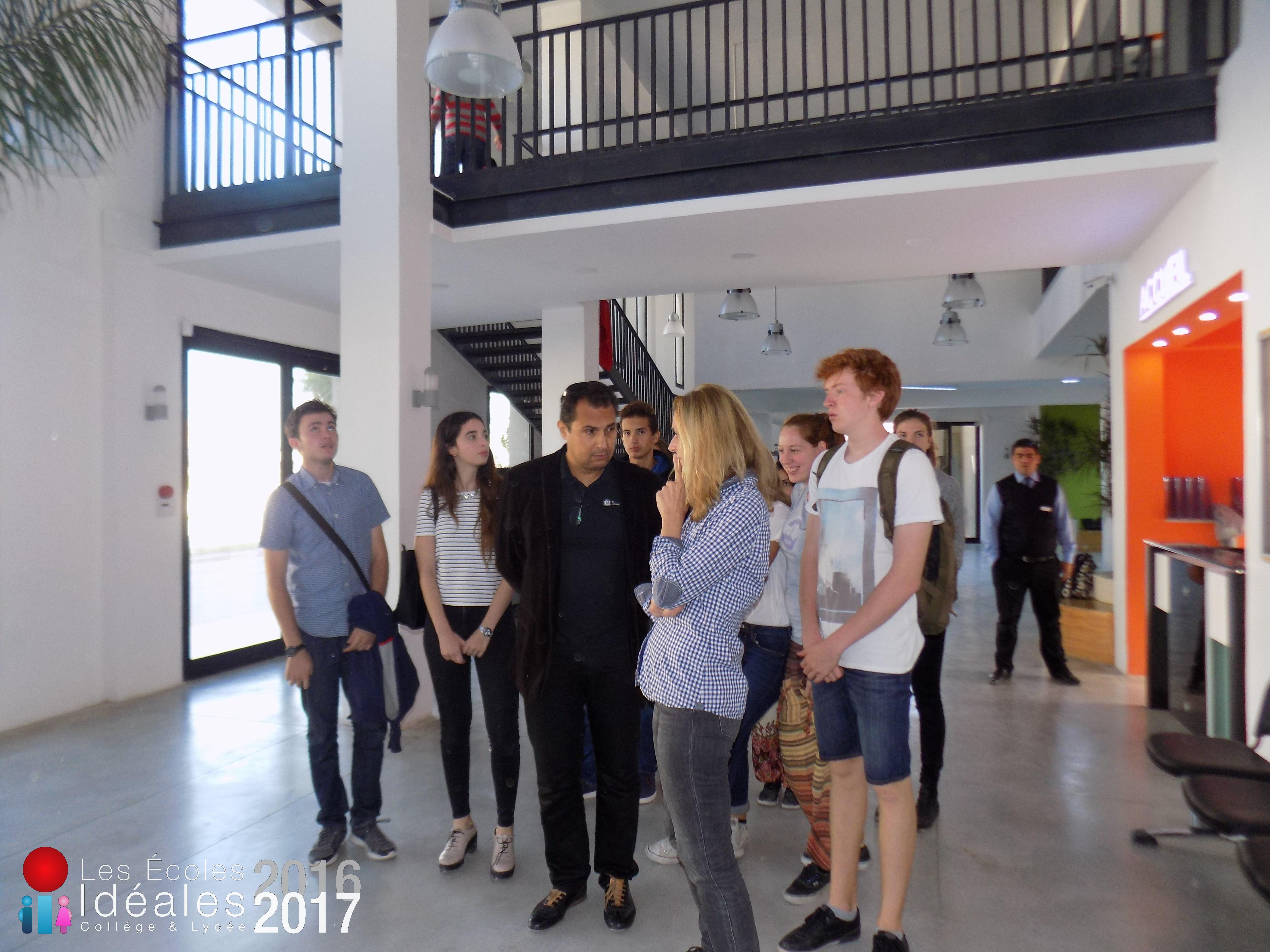 visite du nouveau collège
